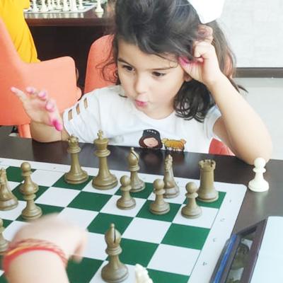 Student at signature chess club